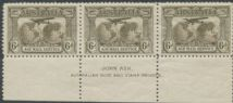 SG 139 ACSC 144ze.1931-38 6d Airmail imprint strip (AG6/184)